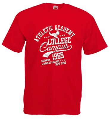ΚΟΚΚΙΝΟ t-shirt FRUIT OF THE LOOM COLLEGE