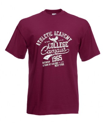 ΜΠΟΡΝΤΩ t-shirt FRUIT OF THE LOOM COLLEGE