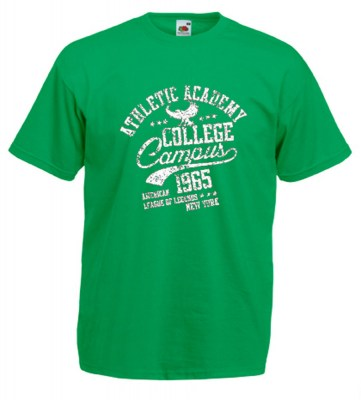 ΠΡΑΣΙΝΟ t-shirt FRUIT OF THE LOOM COLLEGE
