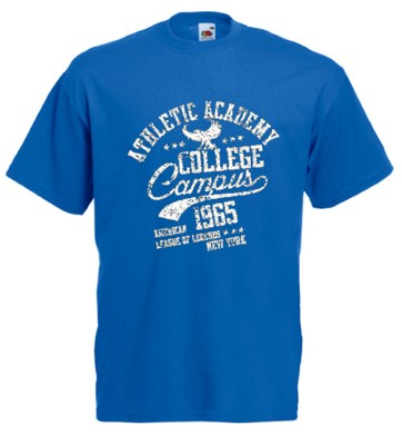 ΜΠΛΕ ΡΟΥΑ  t-shirt FRUIT OF THE LOOM COLLEGE