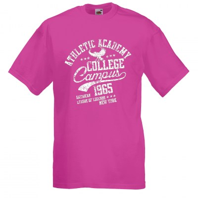 ΦΟΥΞΙΑ t-shirt FRUIT OF THE LOOM COLLEGE