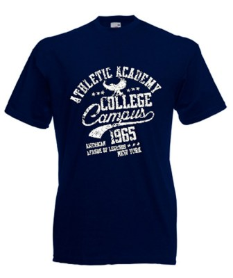 ΜΠΛΕ ΣΚΟΥΡΟ t-shirt FRUIT OF THE LOOM COLLEGE