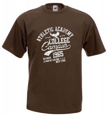 ΚΑΦΕ t-shirt FRUIT OF THE LOOM COLLEGE