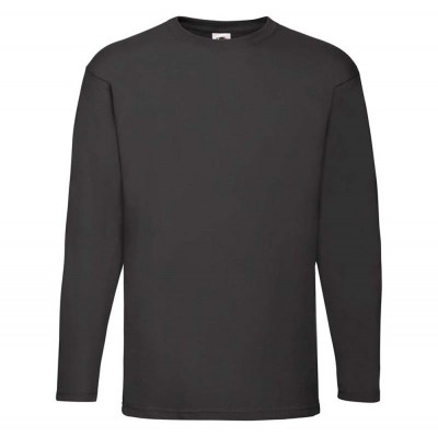 ΜΑΥΡΟ Valueweight Long Sleeve T FRUIT OF THE LOOM ΜΑΚΡΥΜΑΝΙΚΟ T-SHIRT