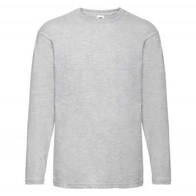 ΓΚΡΙ ΜΕΛΑΝΖΕ Valueweight Long Sleeve T FRUIT OF THE LOOM ΜΑΚΡΥΜΑΝΙΚΟ T-SHIRT