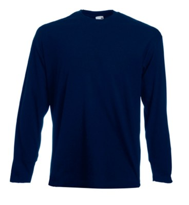 ΜΠΛΕ ΣΚΟΥΡΟ Valueweight Long Sleeve T FRUIT OF THE LOOM ΜΑΚΡΥΜΑΝΙΚΟ T-SHIRT