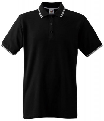 ΜΑΥΡΟ/ΛΕΥΚΟ FRUIT OF THE LOOM Polo Premium Tipped 3XL