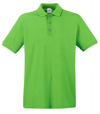 LIME FRUIT OF THE LOOM premium polo