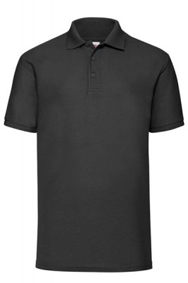 ΜΑΥΡΟ Fruit Of The Loom Polo 65/35 4XL - 5XL