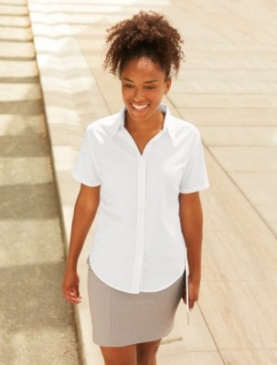 Fruit Of THe Loom LADY SHORT SLEEVE OXFORD