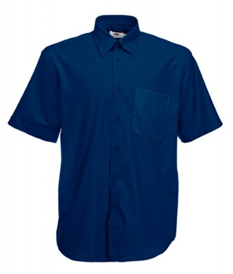 ΜΠΛΕ  FRUIT OF THE LOOM men short sleeve oxford 3XL