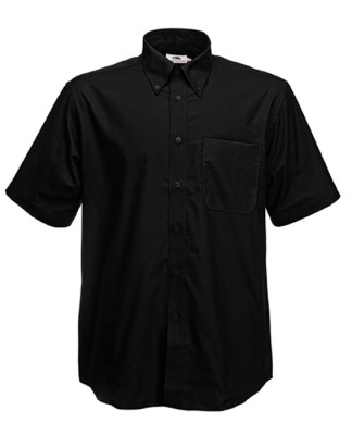 ΜΑΥΡΟ FRUIT OF THE LOOM men short sleeve oxford