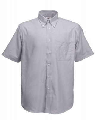 ΓΚΡΙ FRUIT OF THE LOOM MEN SHORT SLEEVE OXFORD