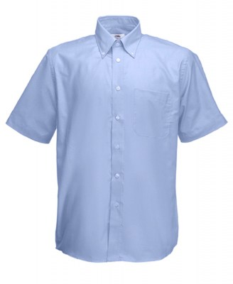 ΓΑΛΑΖΙΟ FRUIT OF THE LOOM MEN SHORT SLEEVE OXFORD