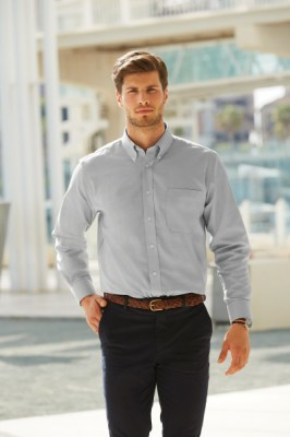 Fruit Of The Loom MEN LONG SLEEVE OXFORD