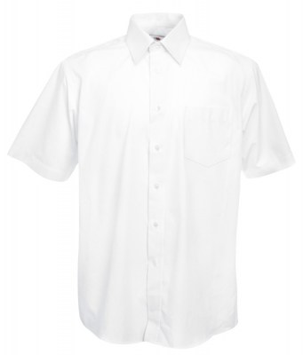 ΛΕΥΚΟ FRUIT OF THE LOOM MEN SHORT SLEEVE POPLIN