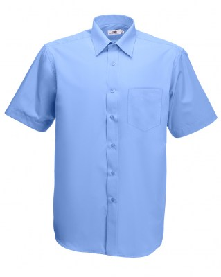 ΓΑΛΑΖΙΟ FRUIT OF THE LOOM men short sleeve poplin 3XL