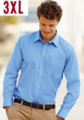 FRUIT OF THE LOOM men long sleeve poplin 3XL