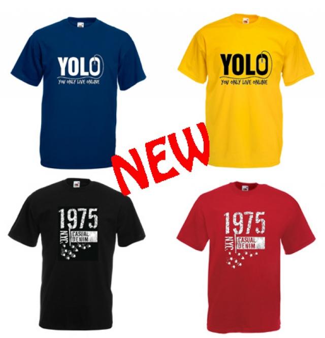 T-shirt με στάμπες